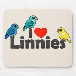 I Love Linnies Mousepads
