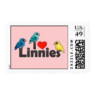 I Love Linnies Postage Stamps
