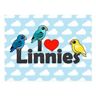 I Love Linnies Postcard