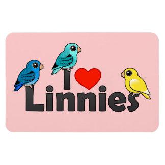 I Love Linnies Rectangular Photo Magnet