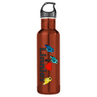 I Love Linnies Stainless Steel Water Bottle