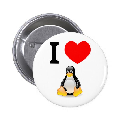 I love Linux 2 Inch Round Button