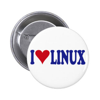 I Love Linux 2 Inch Round Button