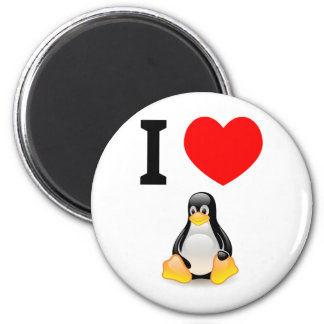 I love Linux 2 Inch Round Magnet