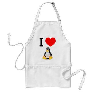 I love Linux Adult Apron
