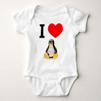 I love Linux Baby Bodysuit