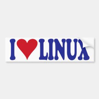 I Love Linux Bumper Sticker