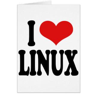 I Love Linux Card