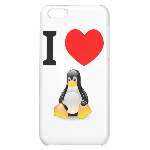 I love Linux Case For iPhone 5C