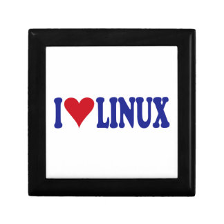 I Love Linux Jewelry Boxes