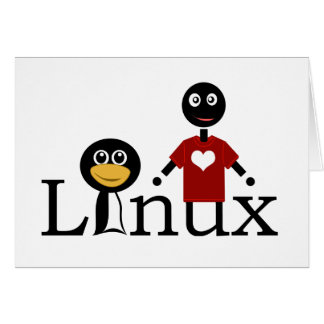 I love Linux Greeting Card