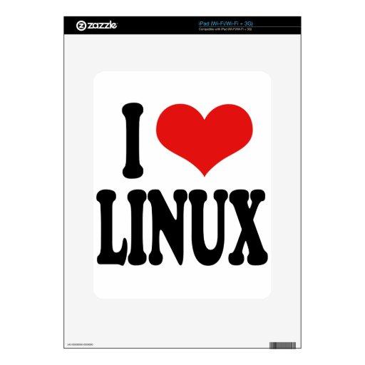 I Love Linux iPad Decal