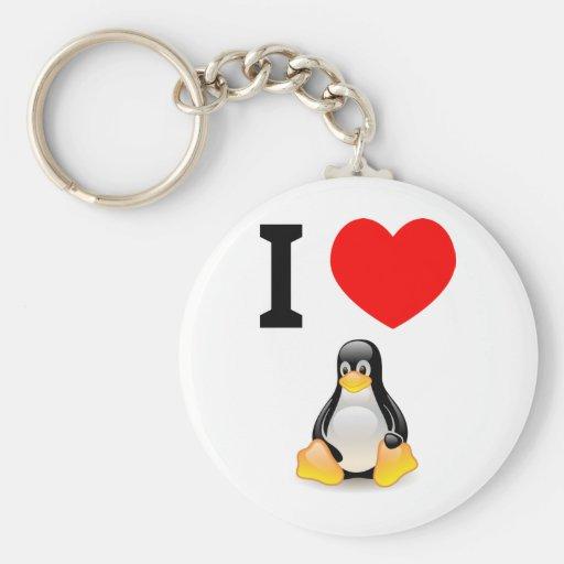 I love Linux Key Chain