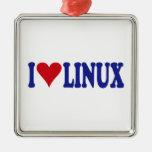 I Love Linux Ornaments