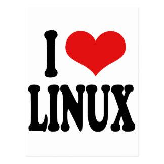 I Love Linux Postcard