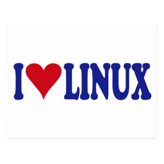 I Love Linux Postcard