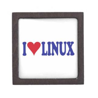 I Love Linux Premium Trinket Boxes