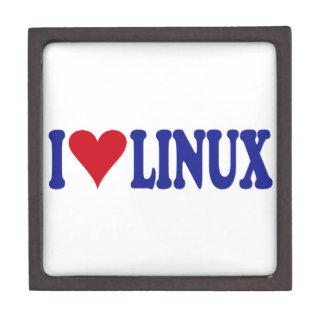 I Love Linux Premium Trinket Box