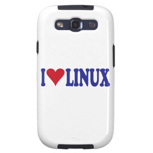 I Love Linux Samsung Galaxy S3 Cases