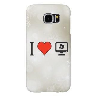 I Love Linux Samsung Galaxy S6 Cases
