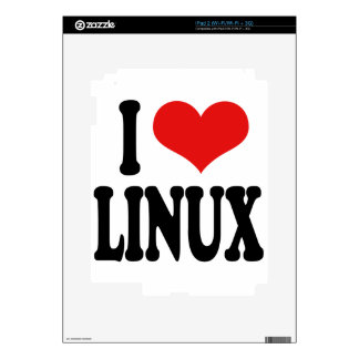I Love Linux Decal For iPad 2