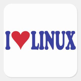 I Love Linux Square Sticker