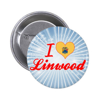 I Love Linwood New Jersey Buttons