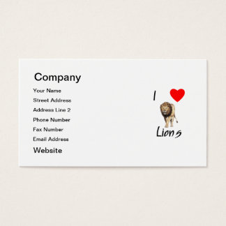 I Love Lions (2) Business Card