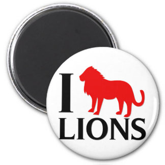 I Love Lions 2 Inch Round Magnet