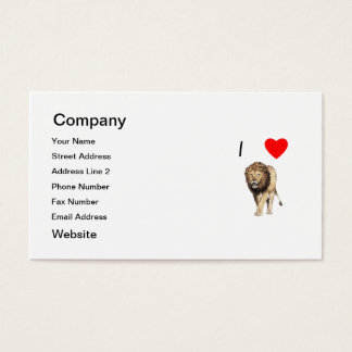 I Love Lions (3) Business Card