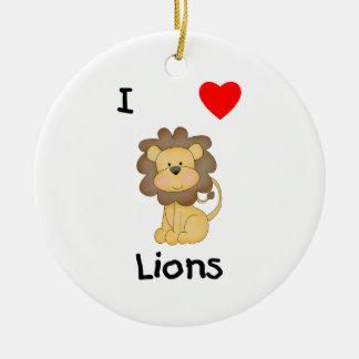 I Love Lions (4) Ceramic Ornament