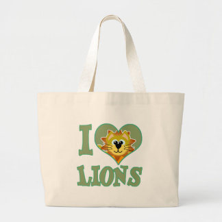 I Love lions Canvas Bags