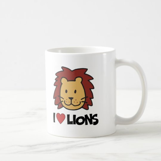 I Love lions Coffee Mug