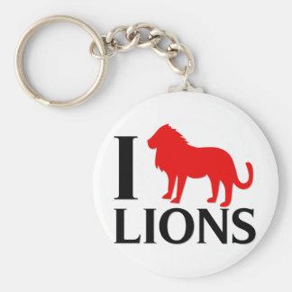 I Love Lions Key Chains