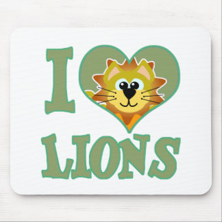 I Love lions Mouse Pad
