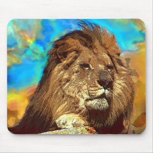 I love lions mousepads