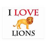 I Love Lions Post Card