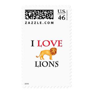 I Love Lions Stamp