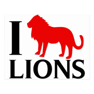 I Love Lions Post Cards