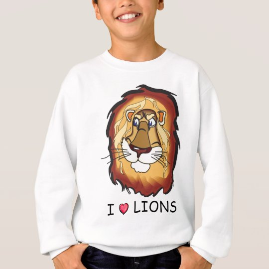 I Love Lions Sweatshirt