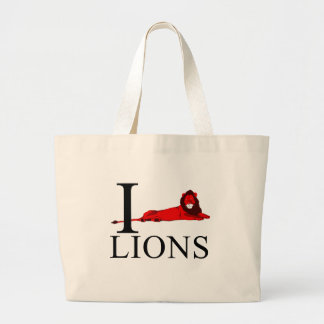 I Love Lions Tote Bags