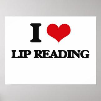 I Love Lip Reading Print
