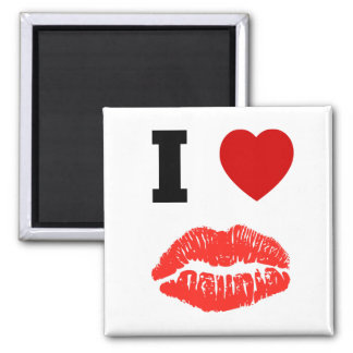 I Love Lips Kisses Magnet
