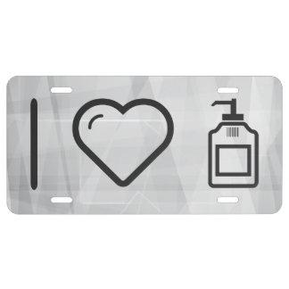 I Love Liquid Handwash License Plate