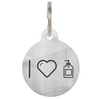 I Love Liquid Handwash Pet Tags