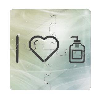 I Love Liquid Handwash Puzzle Coaster