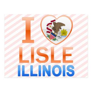 I Love Lisle, IL Postcard