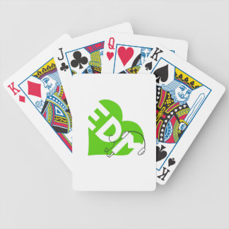 I Love Listening to EDM Bicycle Playing Cards