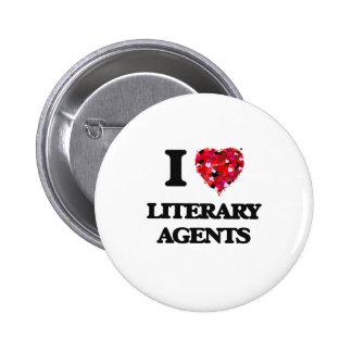 I love Literary Agents 2 Inch Round Button