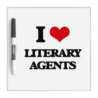 I love Literary Agents Dry-Erase Boards
